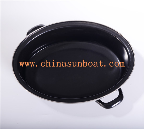 Sunboat Enamel Oval Turkey Roaster Grilled Cookware BBQ Kitchenware/ Kitchen Appliance