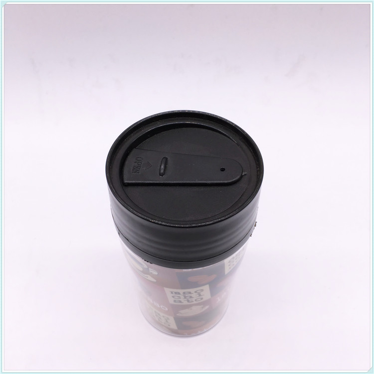 280ml Plastic Coffee Mug with Cover, Plastic Mug (SH-PM05)