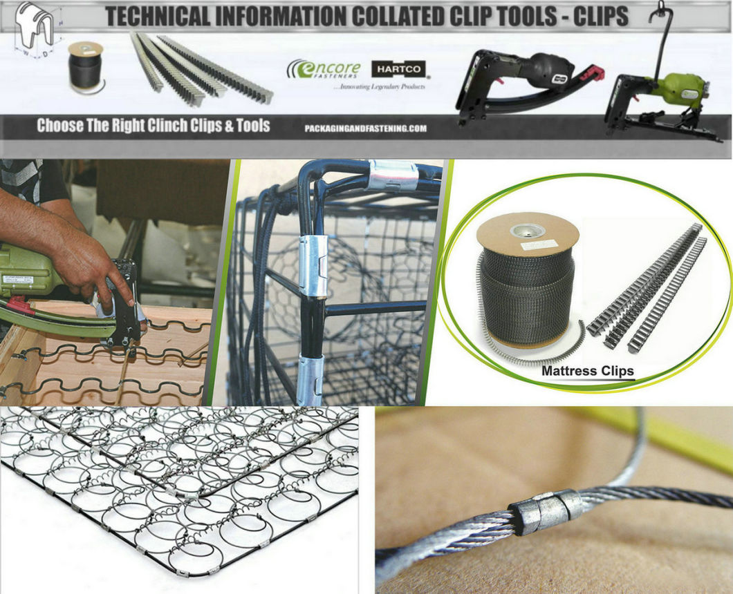 M87 Series Spring Clips for Mattress Making