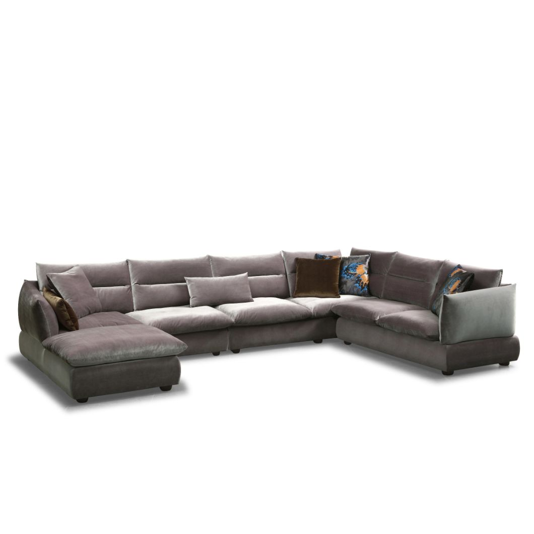 Sectional Feather Fabric Sofa for Living Room Furniture