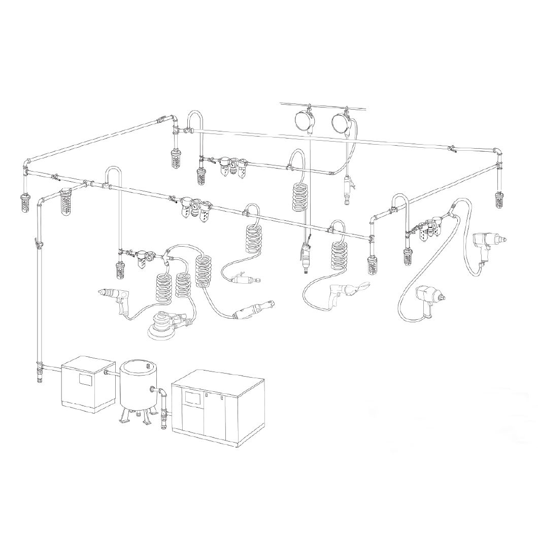Industrial Air Tools for 1/2