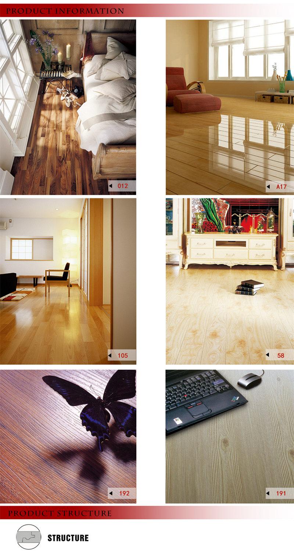 8.3mm E1 AC3 Walnut Oak U-Grooved Laminated Wooden Laminate Vinyl Wood Flooring