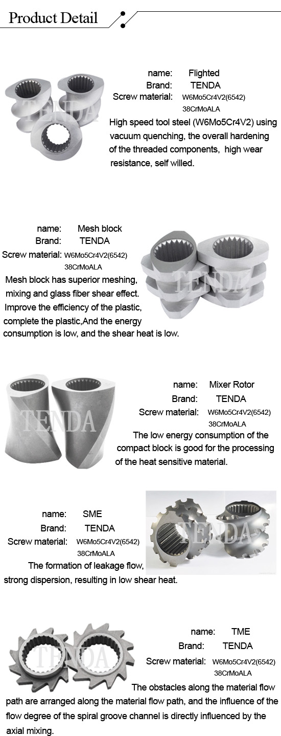 Tengda Twin Screw Extruder Barrel with High Quality