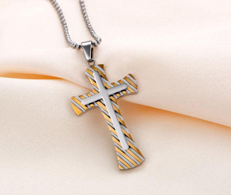 Hdx Gold Steel Zebra Cross Jewelry Pendant
