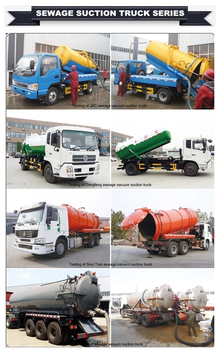 Moro Vacuum Pump with Quick Suction and Discharge Dongfeng Kingrun Sewer Flushing Truck, Sewer Jetting Truck, Sewer Jetting Cleaner Truck