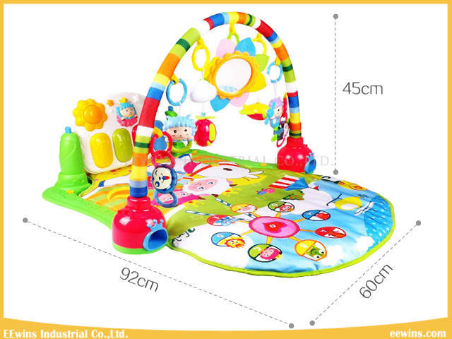 Quality and Safety Kick & Play Piano Gym Toys Baby Play Mat with 4 Pattern for Baby