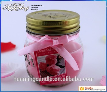 Hot sale glass candle