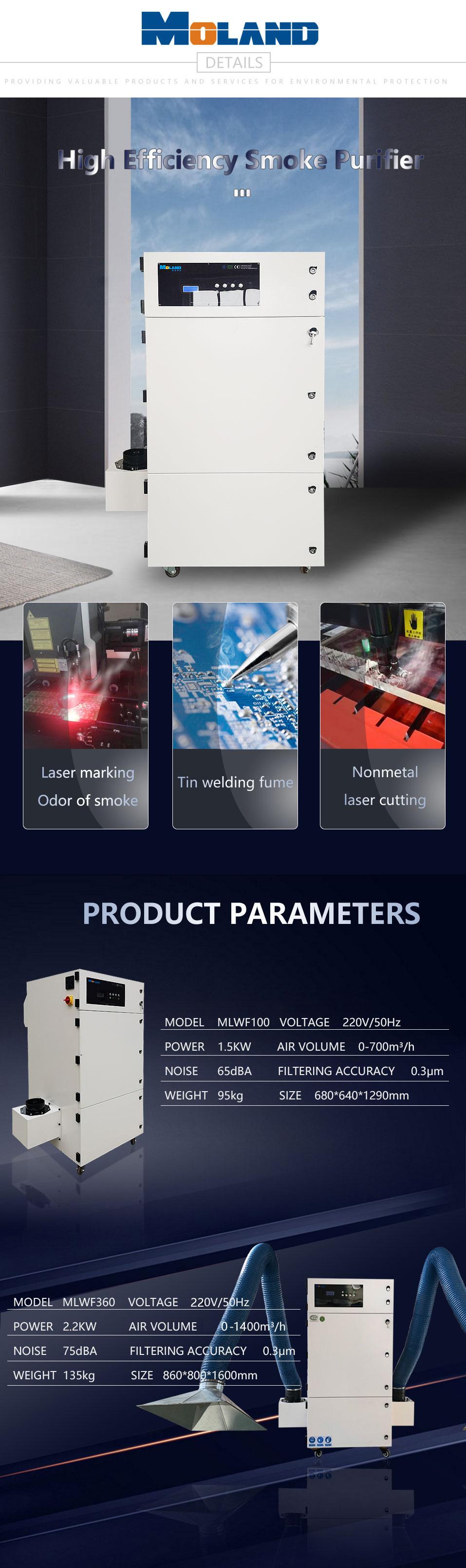 Laser Marking Smoke Extractor