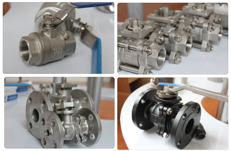 Carbon Steel 2PC Threaded Ball Valve with Lockable Optional