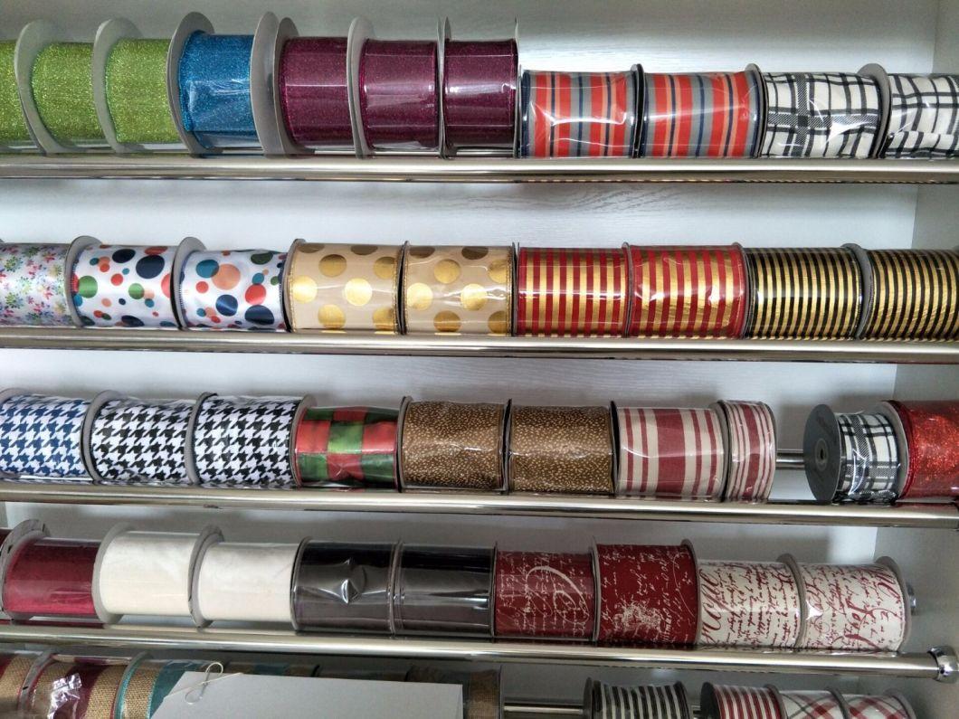 Decorative Christmas Ribbon Factory Wholesale 75mm Grosgrain Ribbon
