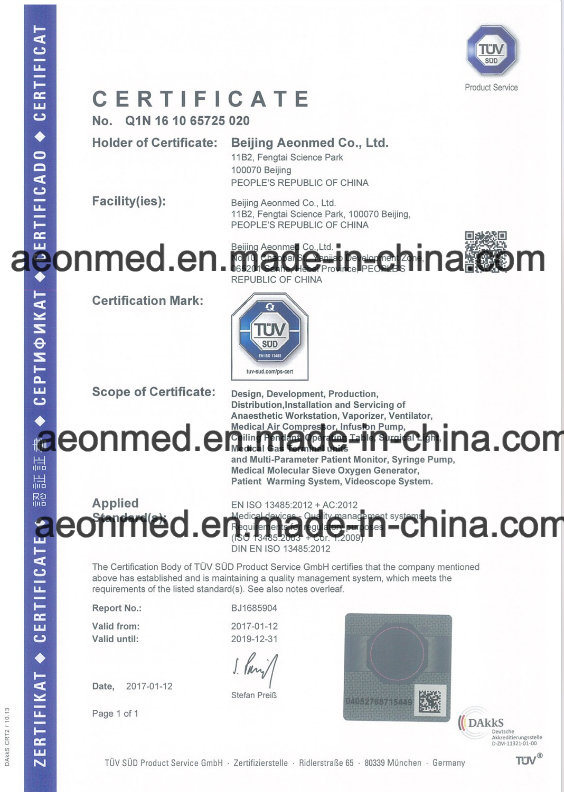 Ce Certificate Pneumatic Driven Electronic Control Ventilator Hospital ICU Medical Equipment Ventilator Vg70 for Infant and Adult