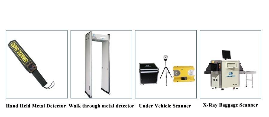 Waterproof Security Door Frame 33 Zone High Sensitivity Uz800 Walk Through Metal Detectors
