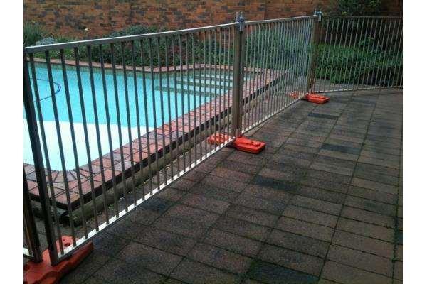 Black Steel Pool Fence/Swimming Pool Fence/Terporary Pool Fence