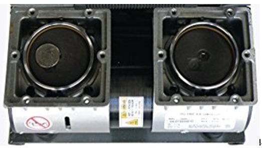 Ultra Quiet & Oil-Free Air Compressor 1.0 HP 4.23 Gallon Twin Tank