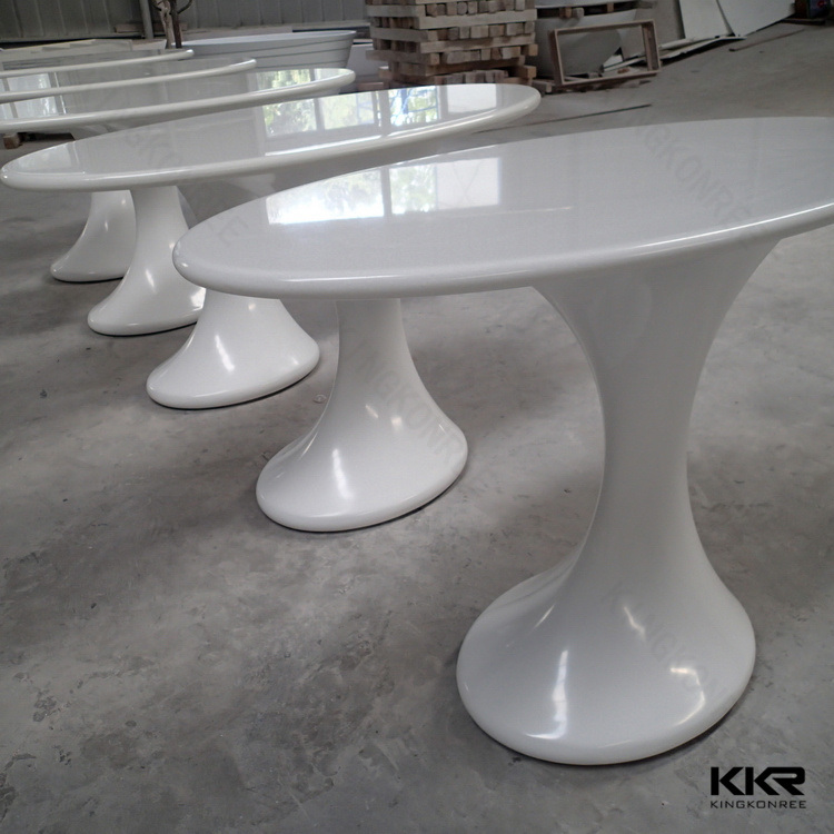 Black and White Oval European Style Hotel Coffee Table