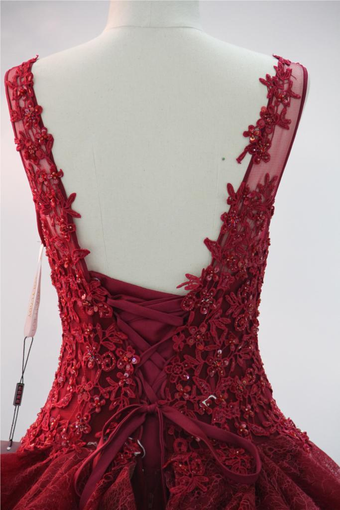 Lace Beading Applique Prom Party Evening Cocktail Dress