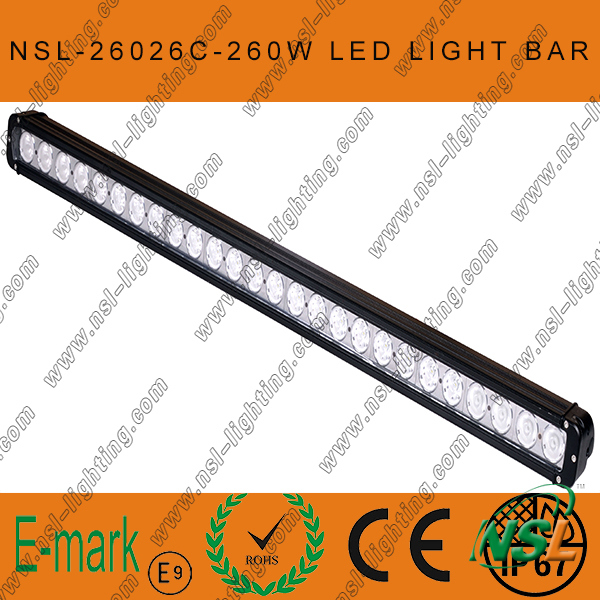 42 Inch 260W CREE LED Light Bar 4X4 off Road Heavy Duty Sut Military Agriculture Marine Mining Light