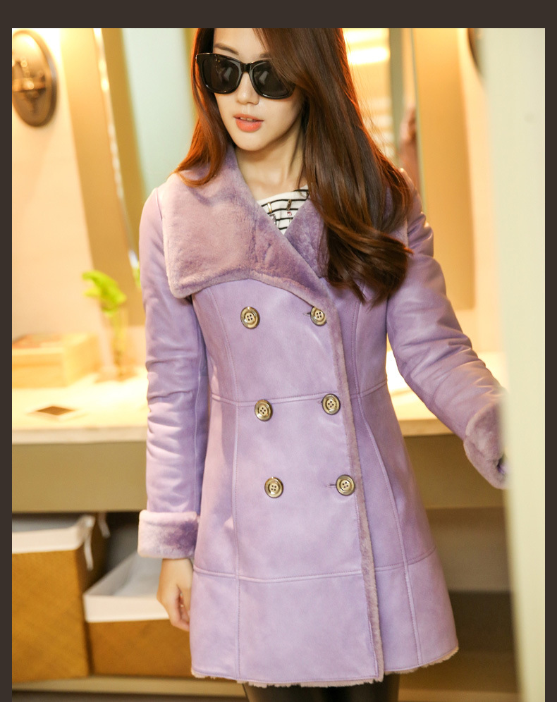 Winter Real Shearling Coat and Fur Coat for Lady Long Style