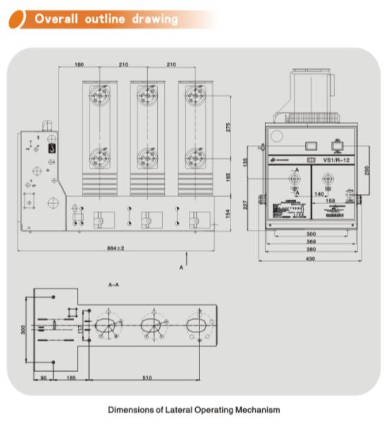 Vs1/C-12 Hv Vacuum Circuit Breaker with Lateral Operating Mechanism