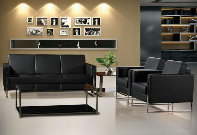 China Supplier Leather Sofa Office Furniture (DX528)