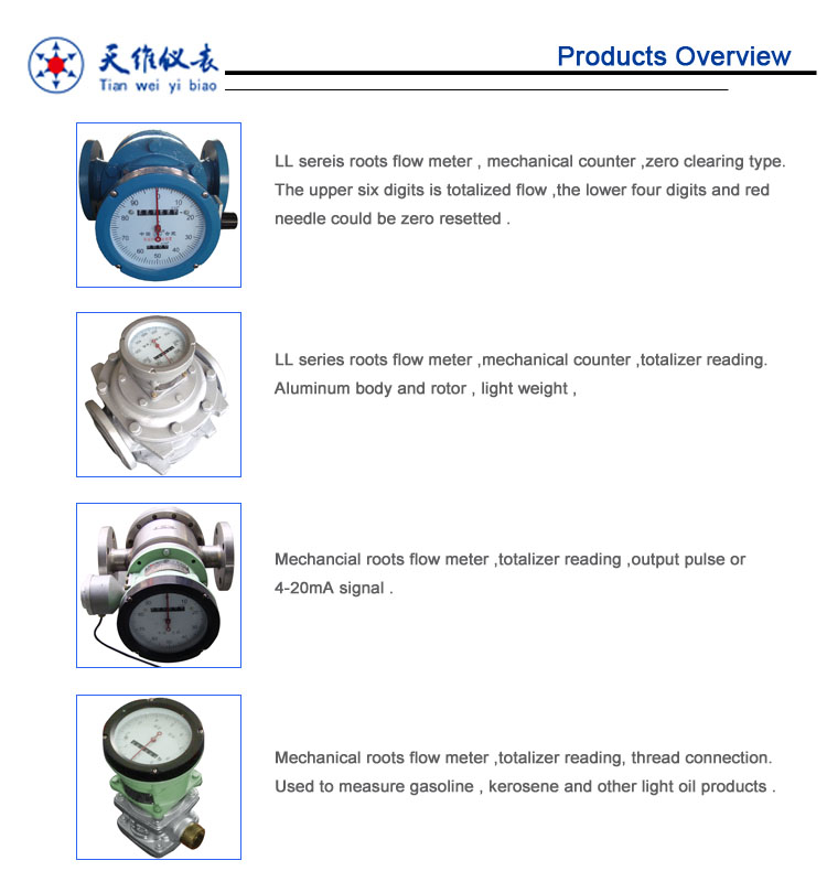 Digital Diesel Gasoline Oil Positive Displacement Flow Meter