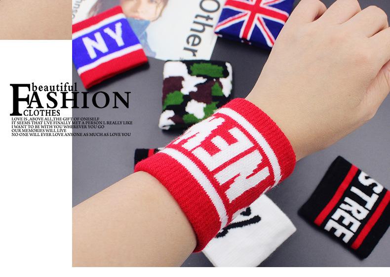 Print Terry Cotton Elastic Sport Wristband (YH-SW095)