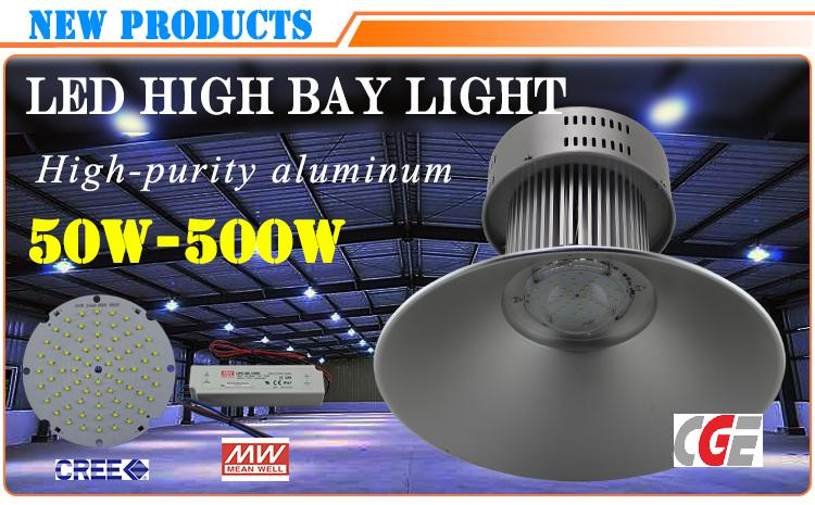 100W High Lumen Bridgelux Dimmable LED High Bay Light Warehouse Lamp
