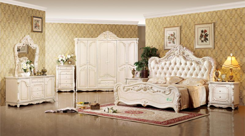 Bedroom Furniture Set with King Bed and Cabinet (W809)