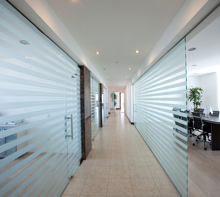 Frosted Tempered Office Partition