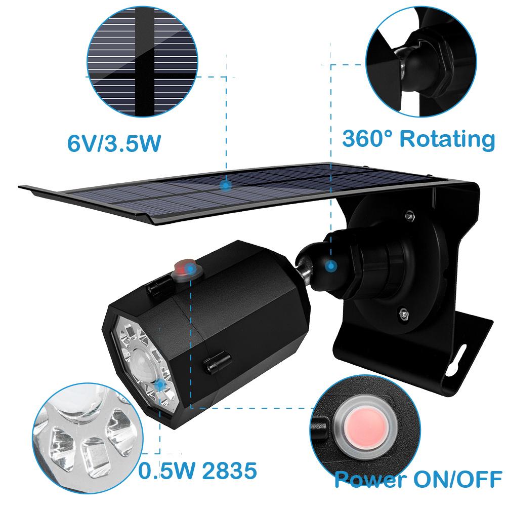 500lm LED Solar Light Outdoor Waterproof 10 LED Street Light PIR Motion Sensor Light Garden Emergency Lamp Security Spotlight