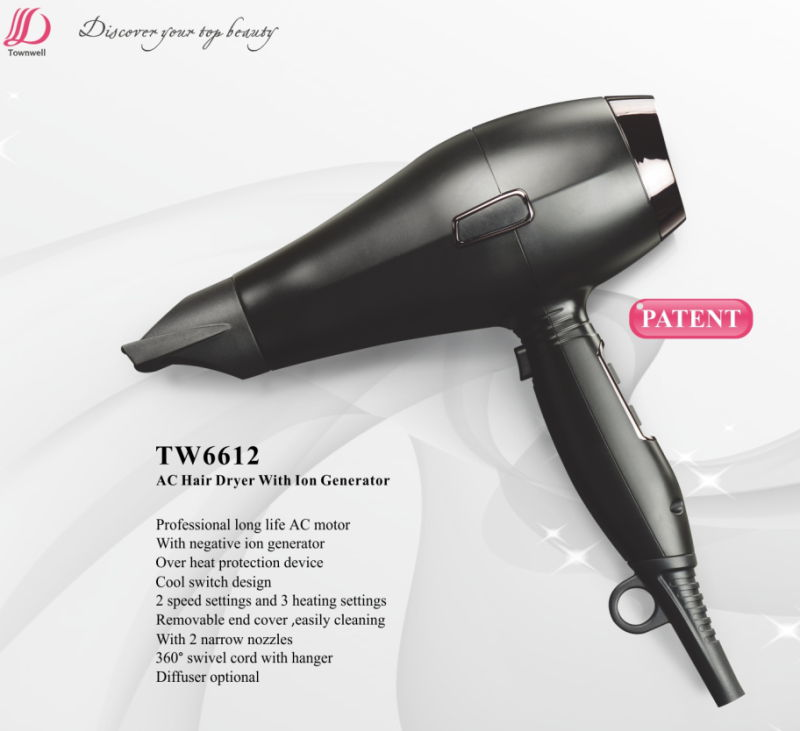 Cool/Hot Switch Design High Speed Low Noise Hair Blow Dryer for Salon