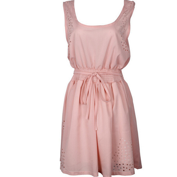 Hot Sale Fashion Tight Waist Chiffon Flower Girl Dress (50151)