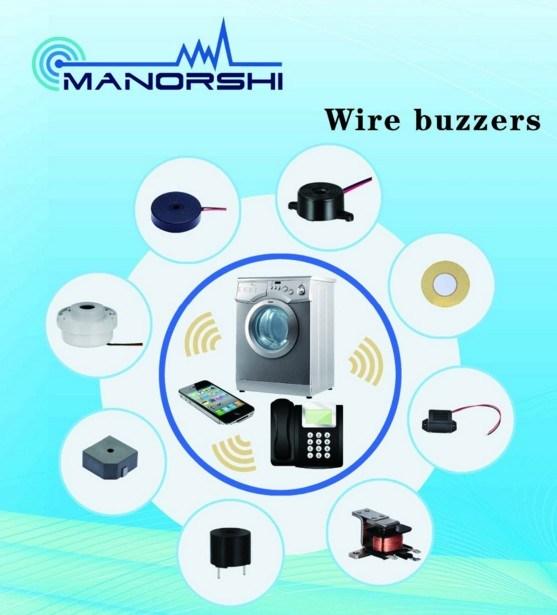 5V 12V 24V Loud DC Driving Piezo Buzzer PCB Piezo Transducer with Wire and Pin