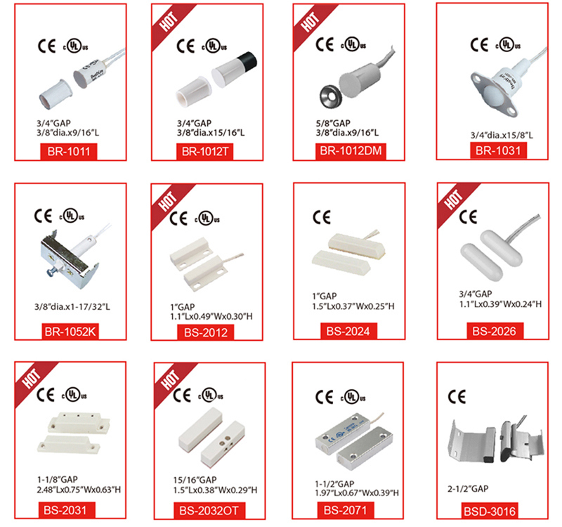 Manufacture Recessed Magnetic Contact Reed Switch Br-1051t