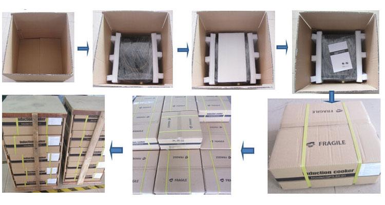304 Stainless Steel ETL CE 3500W/1800W 110V/220V Commercial Induction Cooker for USA Italy Spain Market