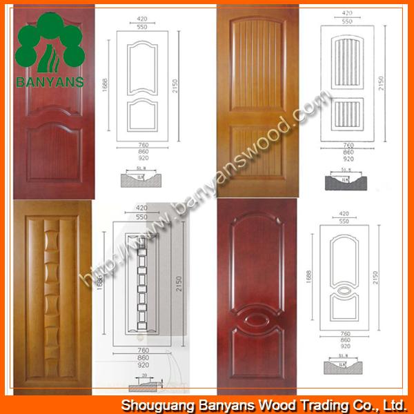 Oak/Sapele/Ash HDF Veneer Door Skin