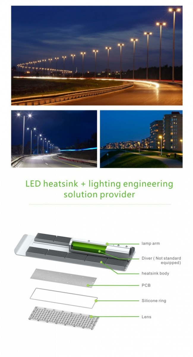 5-Year Warranty 10kv Surge Protection LED Street Lighting 150W Street LED Lighting