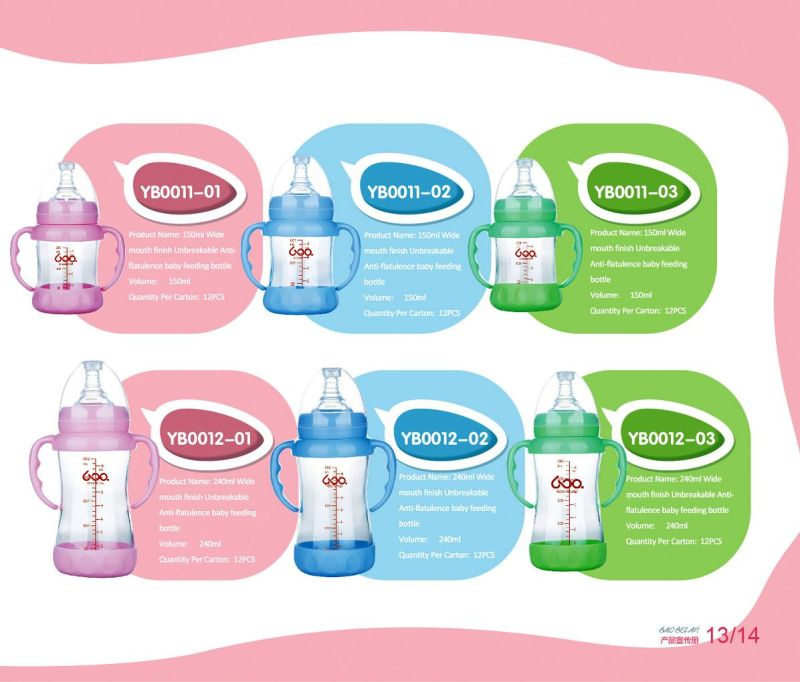 China Neutral Borosilicate Glass Baby Feeding Bottle