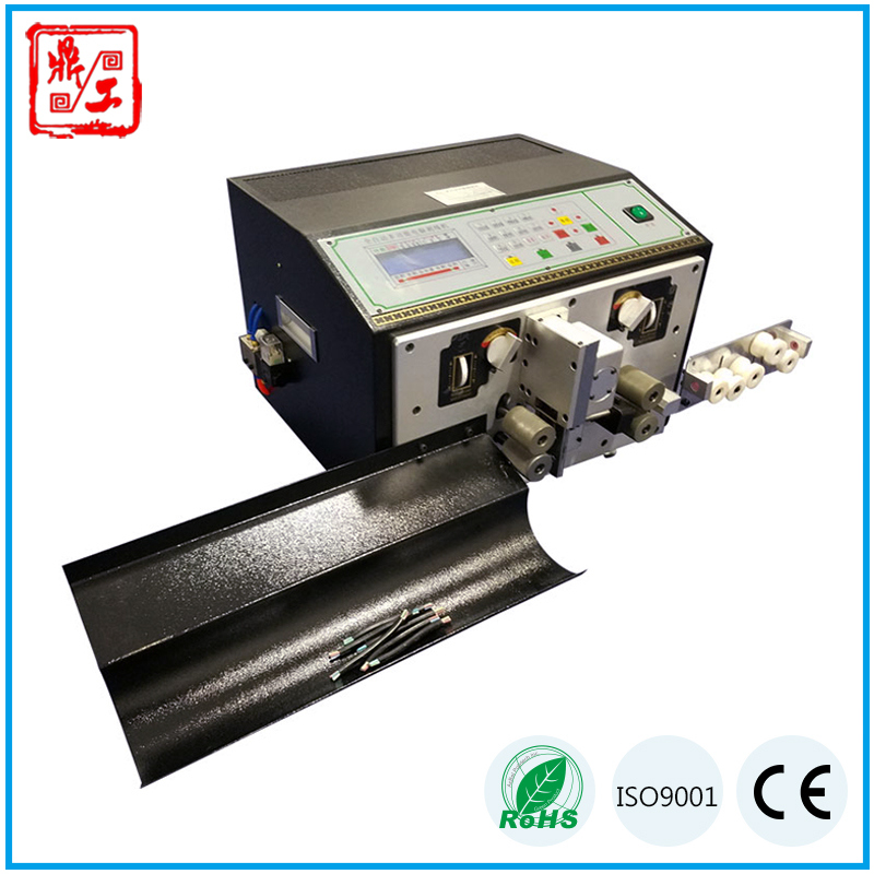 Computerzied Touch Screen Dg-220s Full Automatic Casing Cable Cutting and Stripping Equipment