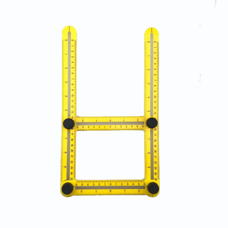 Multi Angle ABS Ruler Measures All Angles and Forms Angleizer Template Tools