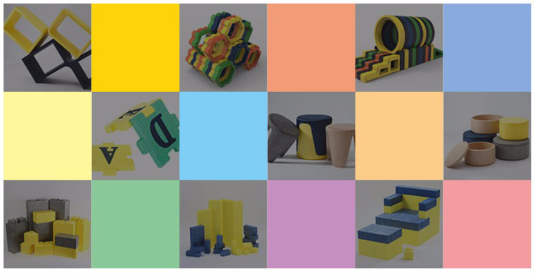 Commercial Use Safe Building Playground Toys EPP Foam Building Blocks