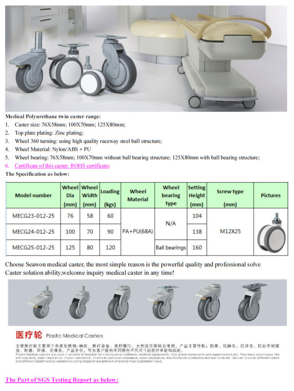 Medical Caster Screw Type PU Caster