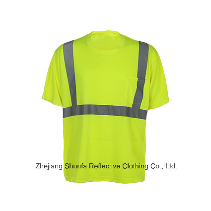 High Visibility Reflective Safety T Shirt with Flame Resistant