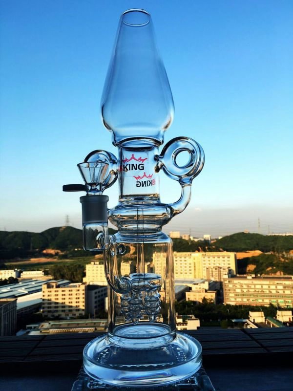 Factory Wholesale Hitman 47cm Borosilicate Material Glass Water Pipe
