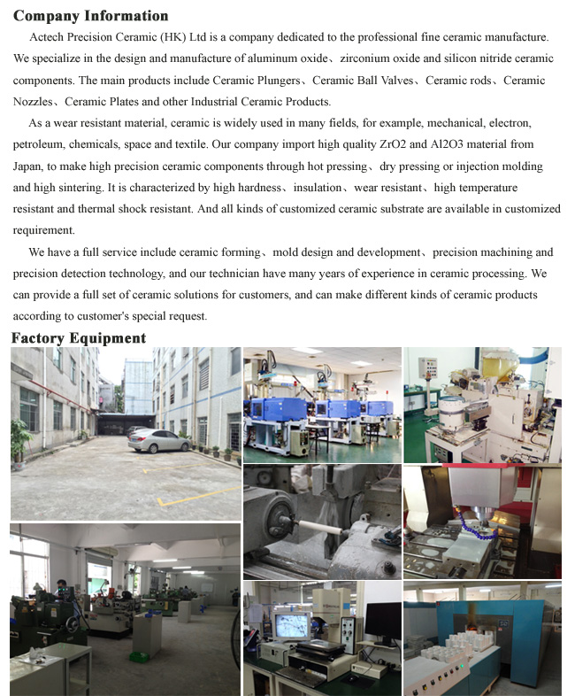 Machinable Ceramic Parts Chinese Supplier