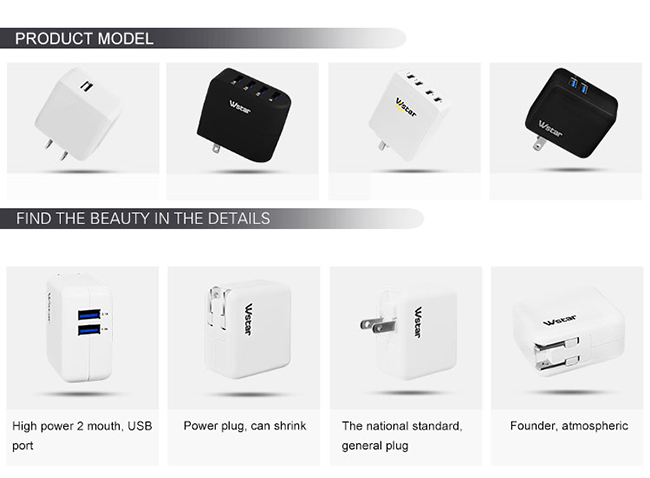 Multi Port 4 USB Charger for iPhone, iPad