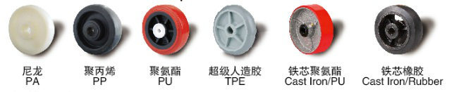 3-1/4 Inch Polyurethane (PU) on Cast Iron Core Wheel, Used for Forklift