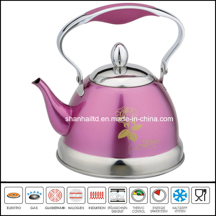 Color Coated Stainless Steel Whistle Kettle Kitchen Tool