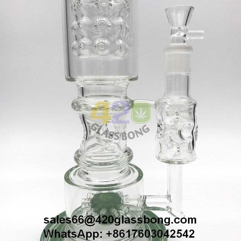 Lookah Heady Glass Waterpipe/Recycler/Crafts with Sunflower Perc for 420smoke/Dry Herb/Weed