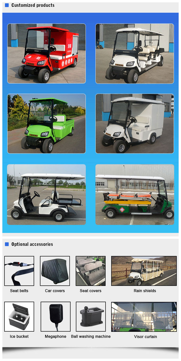 Ce Certificated Battery Operated 6 Seater Electric Aluminum Golf Cart